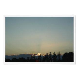 Impression Photo Coucher de soleil à Carpentras