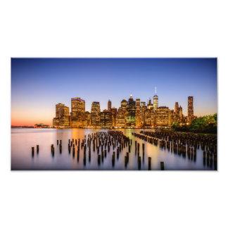 Impression Photo Coucher du soleil à Brooklyn