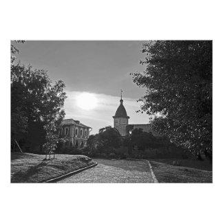 Impression Photo Coucher du soleil dans le monastère de