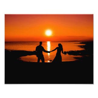 Impression Photo Coucher du soleil de lune de miel
