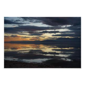 Impression Photo Coucher du soleil de mer de Salton