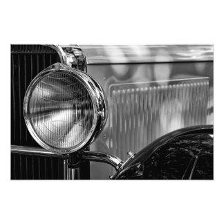 Impression Photo Détail antique - en noir et blanc