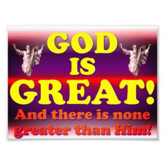 Impression Photo Dieu est grand !