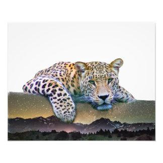 Impression Photo Double exposition de léopard
