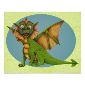 Impression Photo Dragon vert de bébé