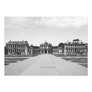 Impression Photo Dresde. Zwinger. Pavillon sur l'axe