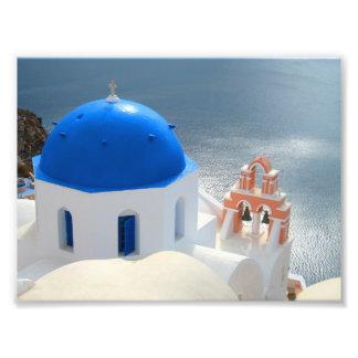 Impression Photo Église de Santorini pendant l'après-midi Sun