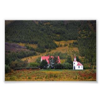 Impression Photo Église de Silfrastadakirkja en Islande