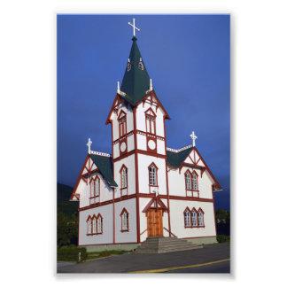 Impression Photo Église luthérienne de Husavik, Islande
