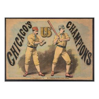 Impression Photo Équipe de baseball de Chicago