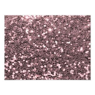 Impression Photo Étincelles roses de parties scintillantes de Faux