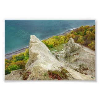 Impression Photo Falaises de craie sur l'île Ruegen