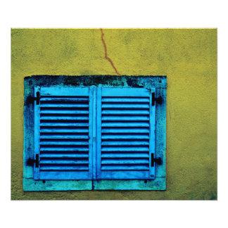 Impression Photo Fenêtre en bois fermée