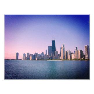 Impression Photo Filtre de sangria d'horizon de Chicago