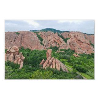 Impression Photo Formations de vallée et de roche chez Roxborough