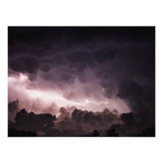 """Impression Photo Foudre dans les nuages 24"""" x 18"""""""