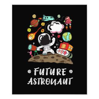 Impression Photo Futur astronaute, l'espace, planètes, Rocket.