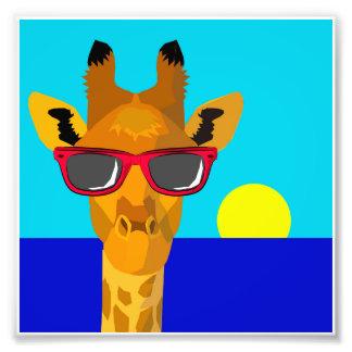 Impression Photo Girafe fraîche de plage