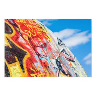 Impression Photo graffiti de planète