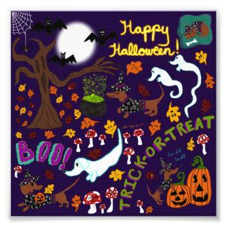 Impression Photo Halloween du teckel de diva
