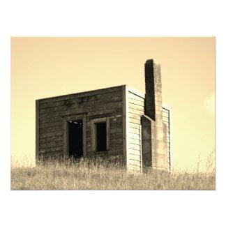 Impression Photo hutte de maison de bâtiment de cabane de colons