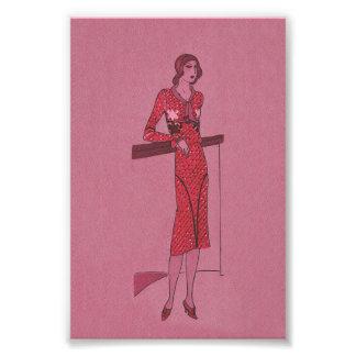 Impression Photo Illustration d'aileron de Fashionista