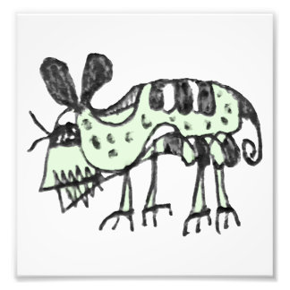 Impression Photo Illustration de dessin au crayon de rat de monstre