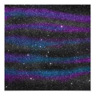 Impression Photo Image de gradient bleu pourpre noir de parties