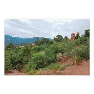 Impression Photo Jardin des montagnes et des collines de dieux
