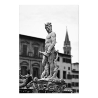 Impression Photo La statue de Neptune, Florence, Italie, gros