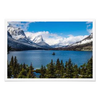 Impression Photo La TA de parc national de glacier de lac st Mary