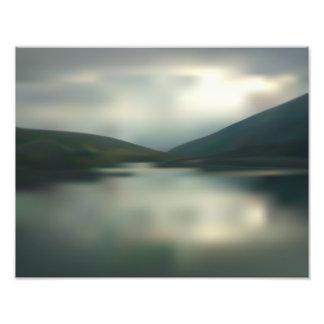 Impression Photo Lac dans les montagnes