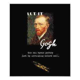 Impression Photo Laissé le citation de Gogh Vincent van Gogh