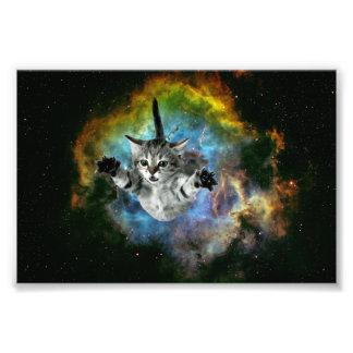 Impression Photo Lancement de chaton d'univers de chat de galaxie