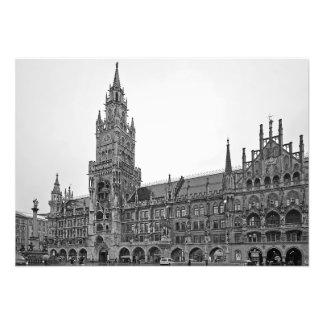 Impression Photo Le bâtiment de la ville nouvelle Hall à Munich