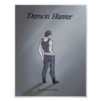 Impression Photo Le chasseur de démon dessiné par l'affiche de