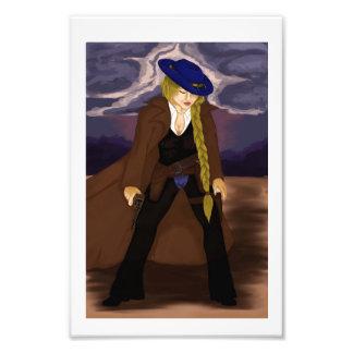 Impression Photo Le classique de Ron : Madame Gunslinger