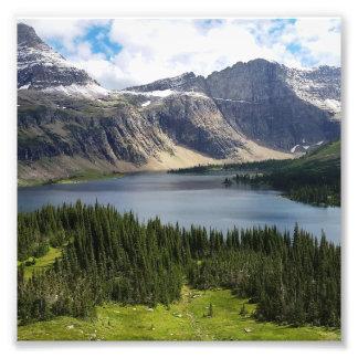 Impression Photo Le lac caché donnent sur le parc national Montana