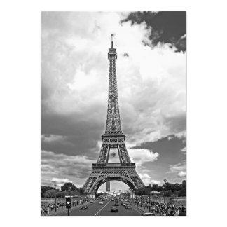 Impression Photo Le pont d'Iéna avec une vue de Tour Eiffel