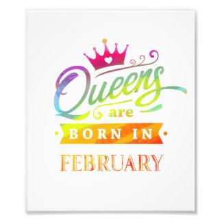 Impression Photo Le Queens sont en février cadeau d'anniversaire né