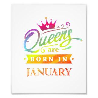 Impression Photo Le Queens sont en janvier cadeau d'anniversaire né