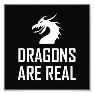 Impression Photo Les dragons sont vrai imaginaire