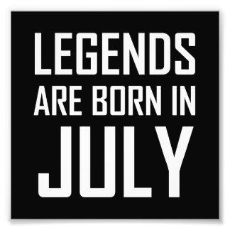 Impression Photo Les légendes sont nées en juillet