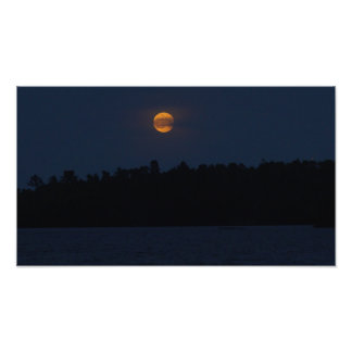 Impression Photo Lever de la lune de lac Shagawa