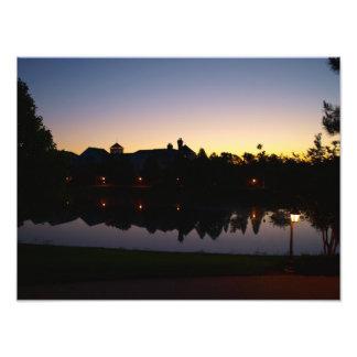 Impression Photo Lever de soleil renversant de dessus de toit à