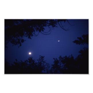 Impression Photo Lumière pendant la nuit bleue