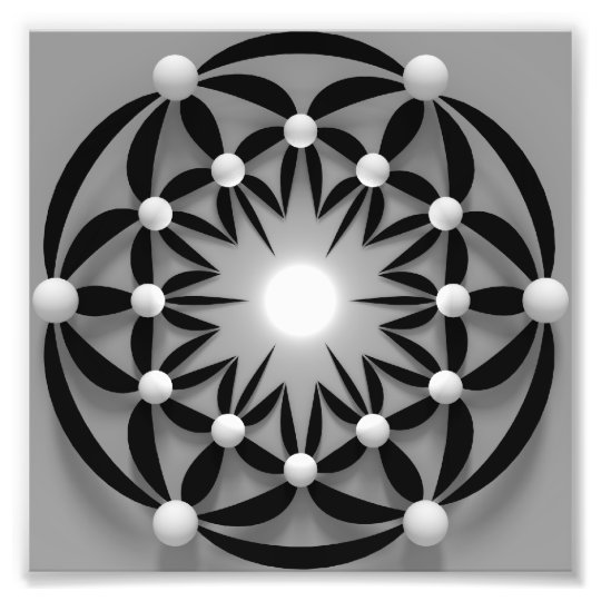 Impression Photo Mandala-abstract-3d