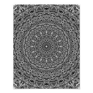 posters affiches toiles mandala noir et blanc. Black Bedroom Furniture Sets. Home Design Ideas