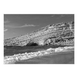 Impression Photo Matala - le soleil, la mer et les cavernes