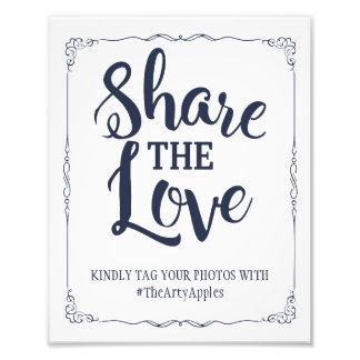 Impression Photo médias sociaux de marine épousant le hashtag de